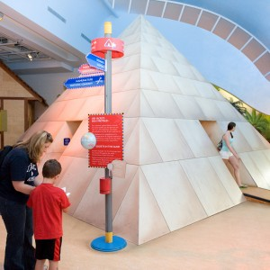 Pyramid scaled to kids level in Children's Museum, Ottawa