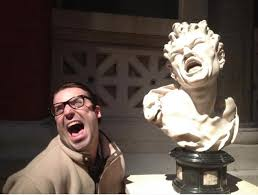 People Having way too much fun in the Museum